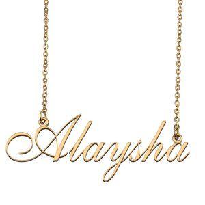 Custom Personalized Alaysha Name Necklace